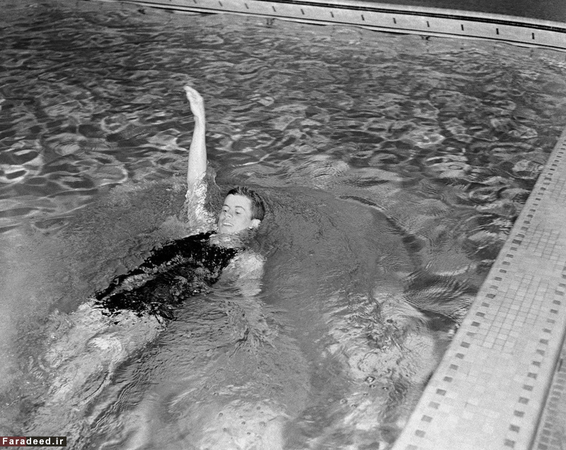 جان اف کندی، رئیس جمهور آمریکا، در دوران جوانی شناگری حرفه ای بود