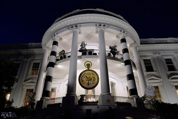 عکسی جالب از تزئین کاخ سفید به مناسبت فرارسیدن جشن هالووین