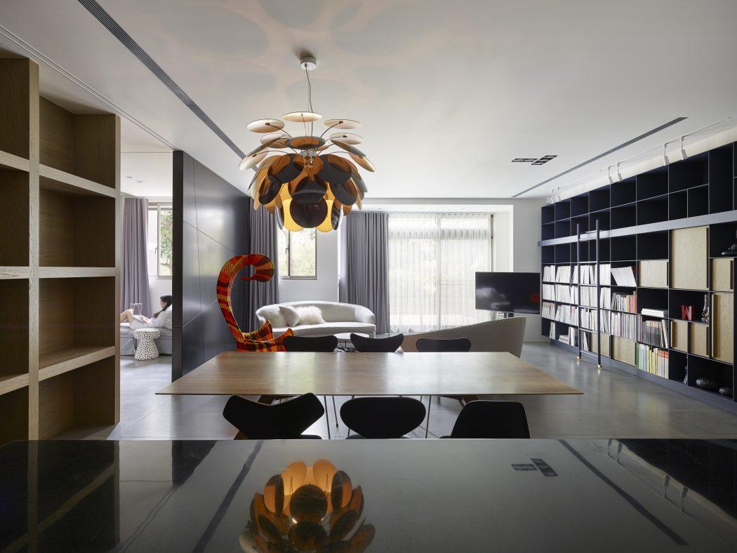 آپارتمانی شیک با دکوراسیون سیاه و خاکستری برای یک زوج جوان در تایپه +تصاویر