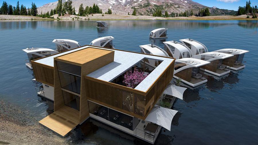 عکسهای بی نظیر از هتل شناور روی آب – واقعا دیدنی است