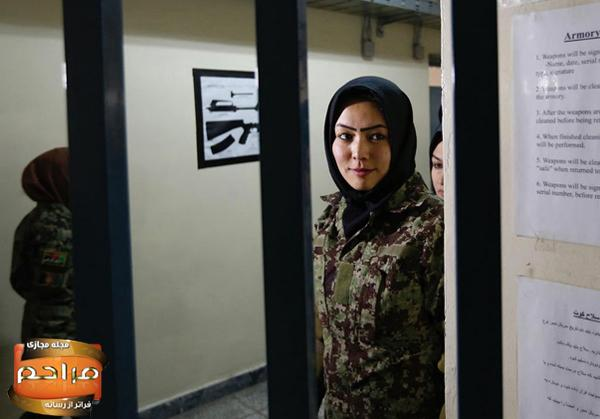 دختران نظامی و ارتشی افغانستان