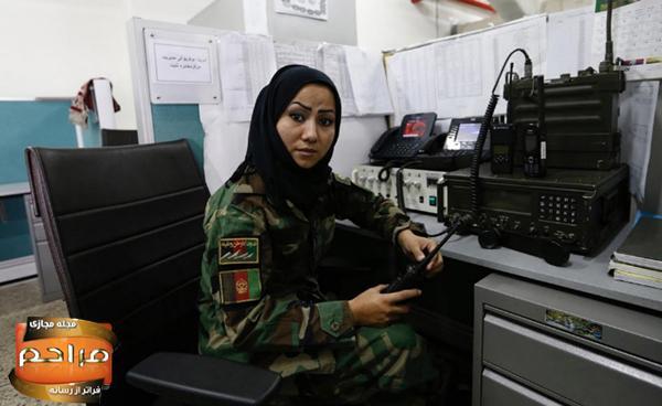 پادگان نظامی دختران افغانی + تصاویر
