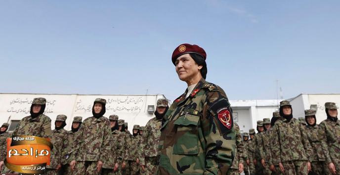 عکس های دختران افغانستانی در ارتش