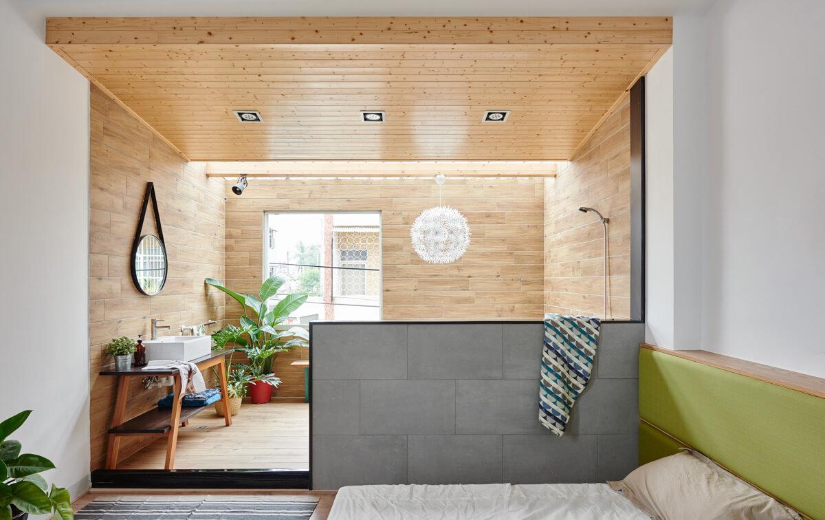طراحی خانه دو و نیم طبقه مینیمالیستی