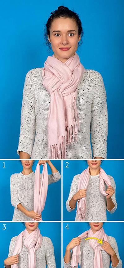 روش های تبدیل شال و روسری به شال گردن + آموزش تصویری