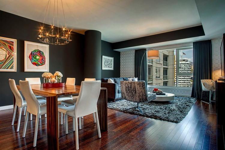 خانه زیبا با دکوراسیون خلاقانه از ترکیب بافت و رنگ در لس آنجلس