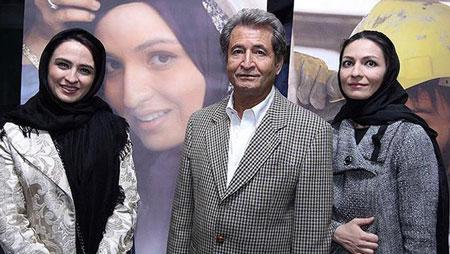 گلاره عباسی عزیز به همراه پدرش