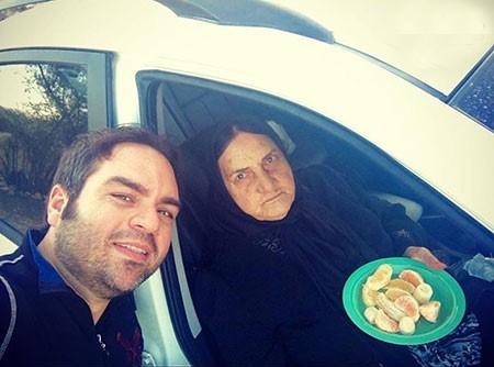 شهرام قائدی و مادرش