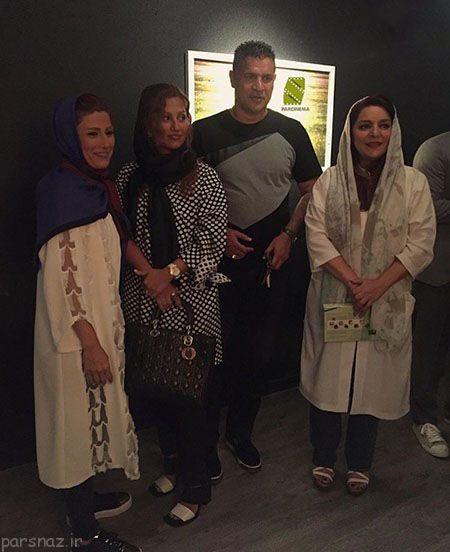 عکس علی دایی و همسرش در گالری تهمینه میلانی