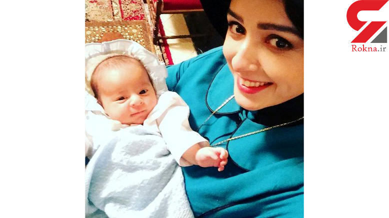 سلفی ترانه علیدوستی و نوزادش در سریال شهرزاد