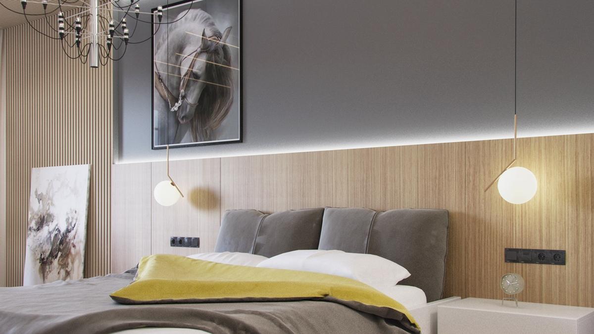 ایده های خاکستری رنگ برای دکوراسیون اتاق خواب