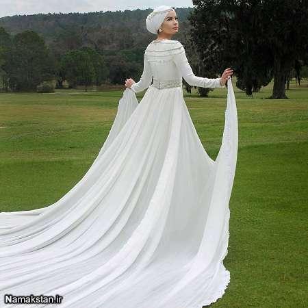 انواع مدل لباس عروس شیک و دنباله دار 2017