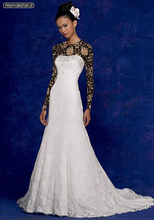 مدل لباس عروس شیک، لباس عروس ساده اروپایی، گالری لباس عروس زیبا و شیک
