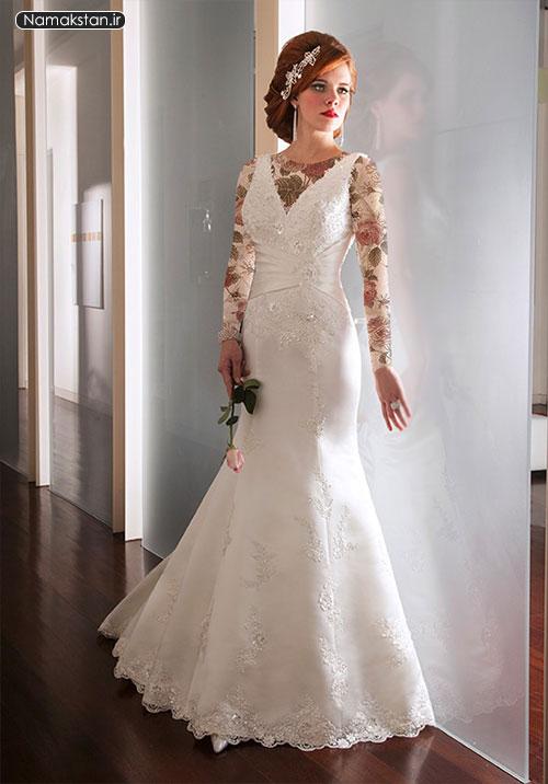 انواع مدل لباس عروس اروپایی شیک، لباس عروس اروپایی، گالری لباس عروس زیبا