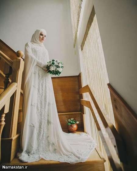 شیک ترین مدل های لباس عروس 2017، لباس عروس شیک و بلند، گالری لباس عروس جدید شیک
