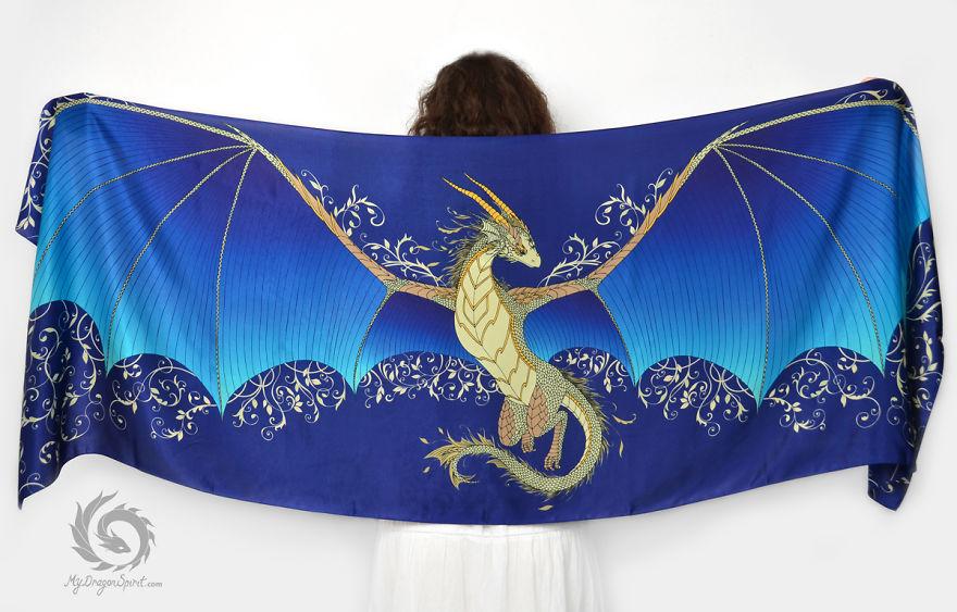 شال های زیبا و فانتزی با طرح اژدها