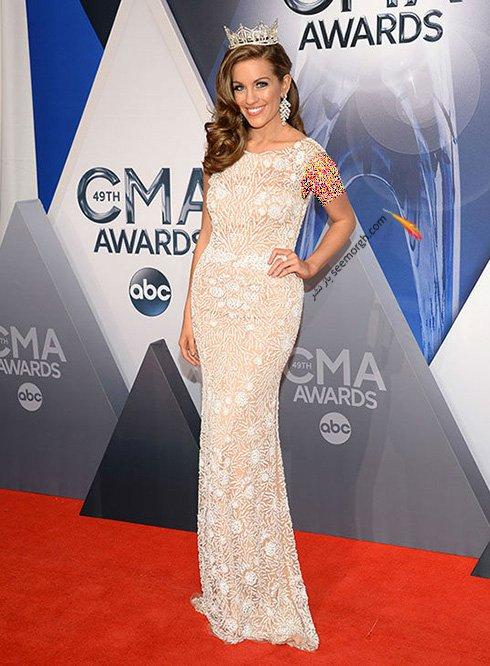 مدل لباس بتی کانترل Betty Cantrel دختر شایسته امریکا در CMA awards 2016