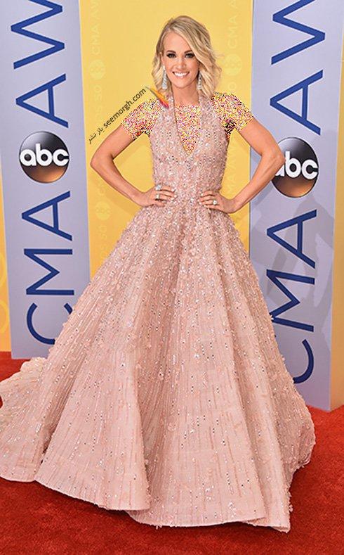مدل لباس کری آندروود Carrie Underwood در CMA awards 2016