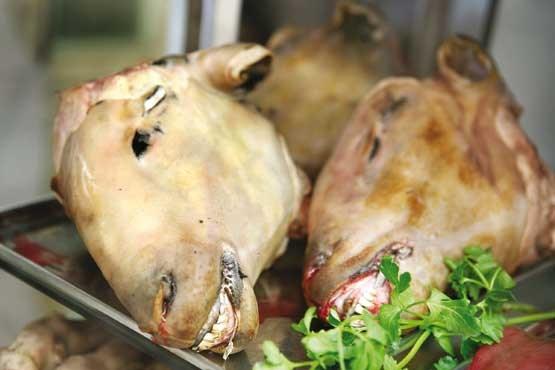 سر گوسفند در مراکش