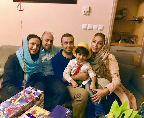 گلاره عباسی و همسرش در جشن تولد پسر محسن چاووشی