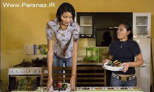عکس قدبلندترین دختر جهان به همراه نامزدش