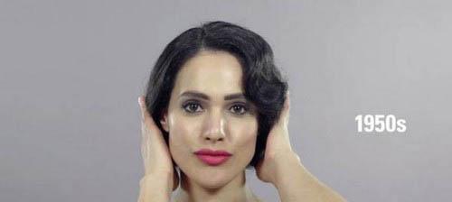 دختری با مدل مو و آرایش زنان ایرانی در طول 100 سال گذشته