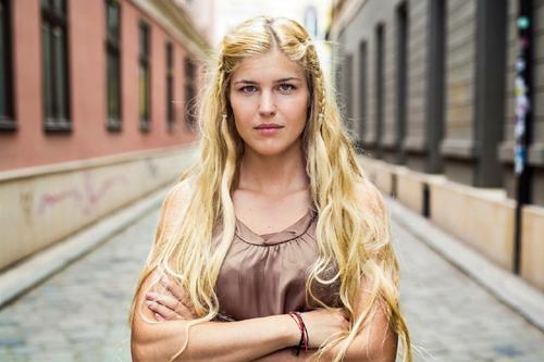 دختری جذاب از رومانیا