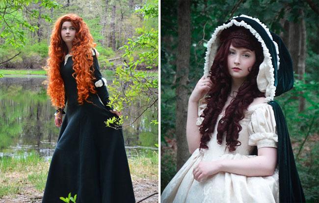 دختر زیبا با لباس های فانتزی