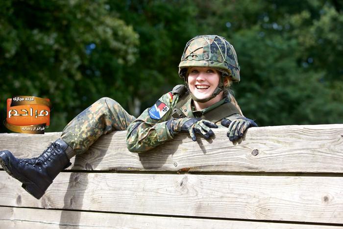 دختران و زنان ارتشی آلمان + تصاویر