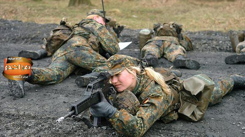 دختران و زنان نظامی و ارتشی آلمان + تصاویر