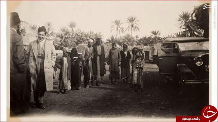 نمایی از بوستان های نزدیک بارگاه حضرت ابالفضل العباس اواخر دهه بیست قرن بیست