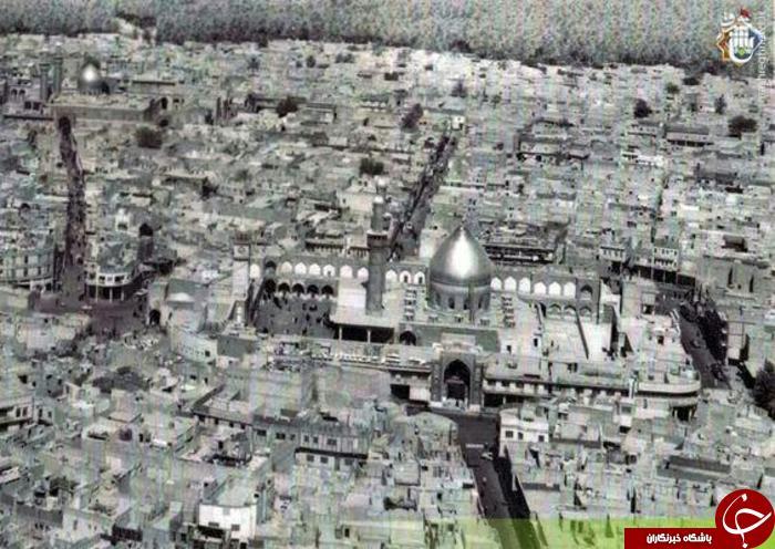 نمایی از شهر کربلای معلی حرم امام حسین (عليه السلام) در سال 1950 میلادی