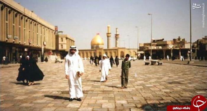 تصویری از بارگاه حضرت ابالفضل العباس در سال 1990 میلادی