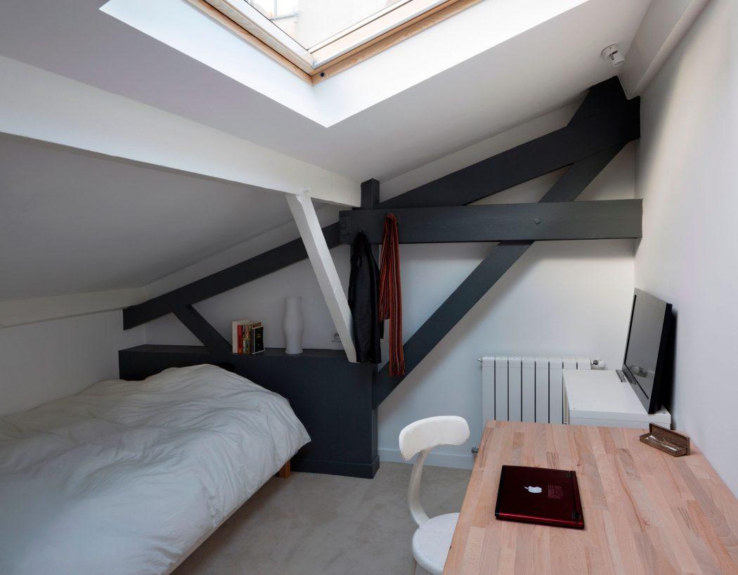 بازسازی انبار قدیمی و تبدیل آن به خانه مدرن جعبه ای در پاریس