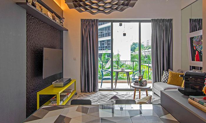 دکوراسیون شیک و مدرن آپارتمانی در سنگاپور الهام گرفته از آثار هنری + تصاویر