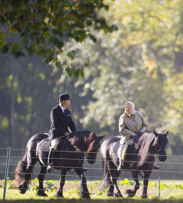 ملکه الیزابت 90 ساله سوار بر اسب