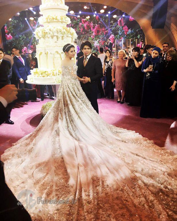 عروس و داماد روسی در گران ترین مراسم عروسی تاریخ+ عکس