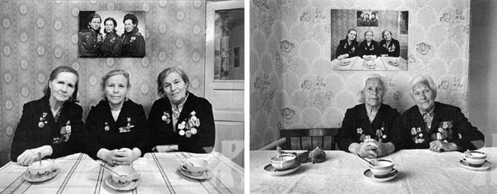 خواهرانی که سه بار مشابه در سال های مختلف عکس گرفتند و در عکس آخر، جای یکی از آن ها خالی بود!