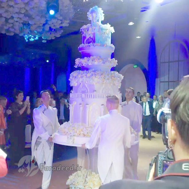 عروس و داماد روسی در گران ترین مراسم عروسی تاریخ