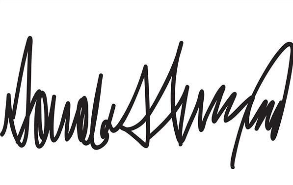 امضای عجیب و غریب ترامپ
