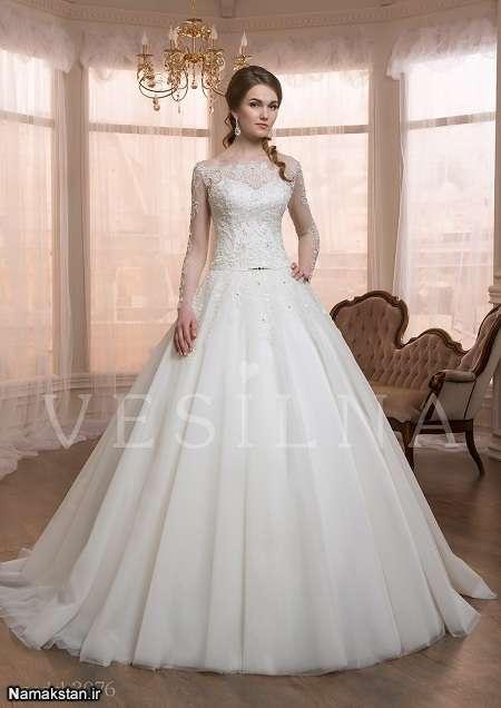 انواع مدل لباس عروس، لباس عروس شیک 2017، زیباترین مدل های لباس عروس برای خانم های قد بلند، گالری لباس عروس جدید