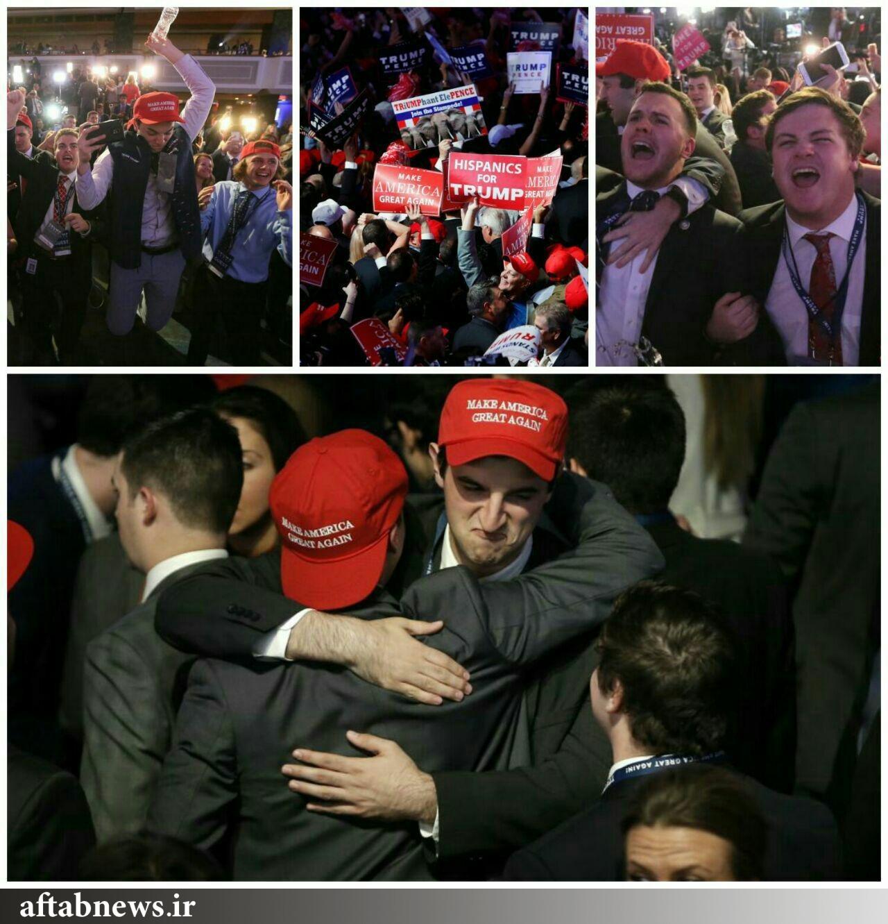 خوشحالی طرفداران ترامپ بعد از پیروزی نامزد محبوب شان + تصاویر