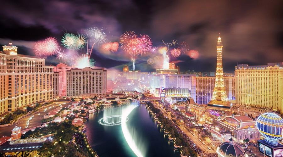 جشن سال نو در لاس وگاس، ایالت نوادا