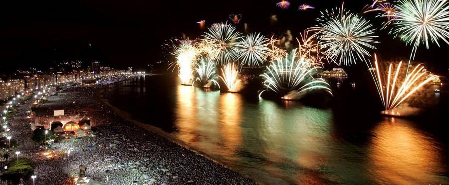 جشن سال نو در ریو دو ژنیرو، برزیل