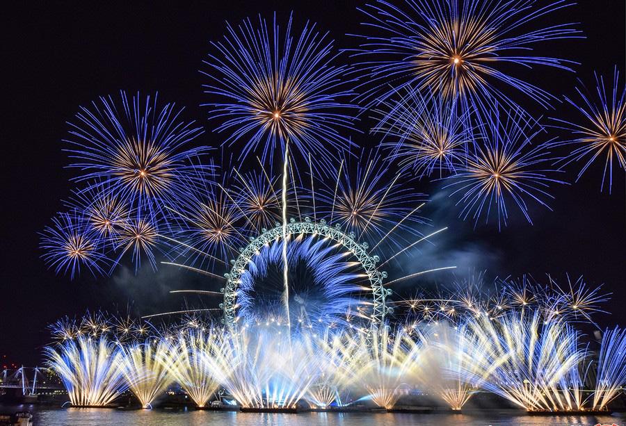 جشن سال نو در لندن، انگلستان