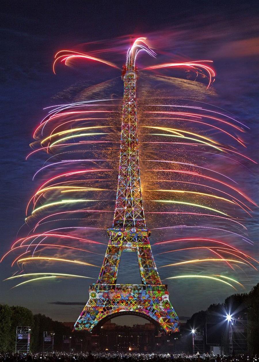 جشن سال نو در پاریس، فرانسه