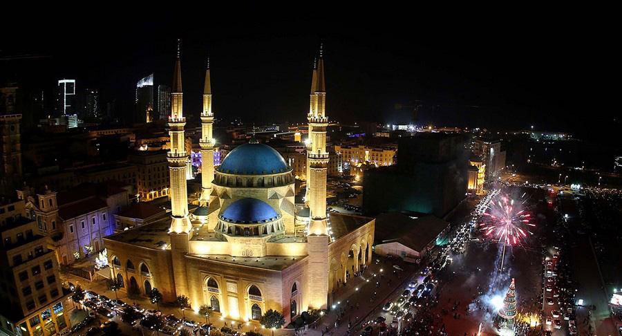 جشن سال نو در بیروت، لبنان