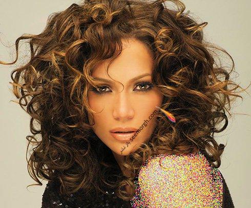 انواع مدل موی موج دار به سبک جنیفر لوپز