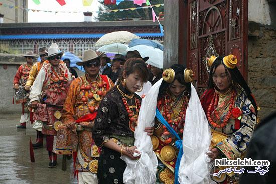 لباس عروس سنتی تبت