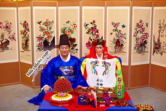 لباس عروس سنتی کره